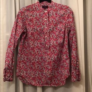 J. Crew Liberty London Art Fabric Ruffle popover